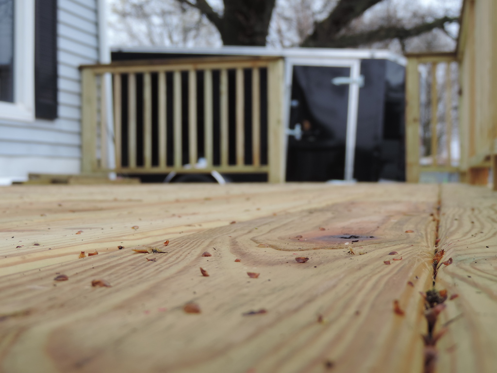 deck surface debris