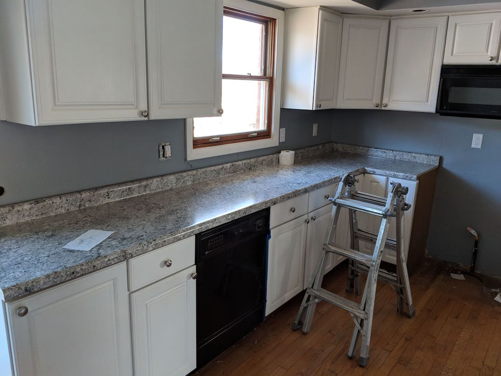 in progress kitchen remodel
